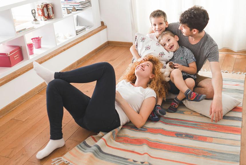 foto famiglia felice