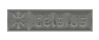 celsius logo bianco nero
